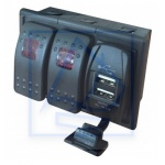 Panel Tablica 2 x ON-OFF LED + 2 x USB